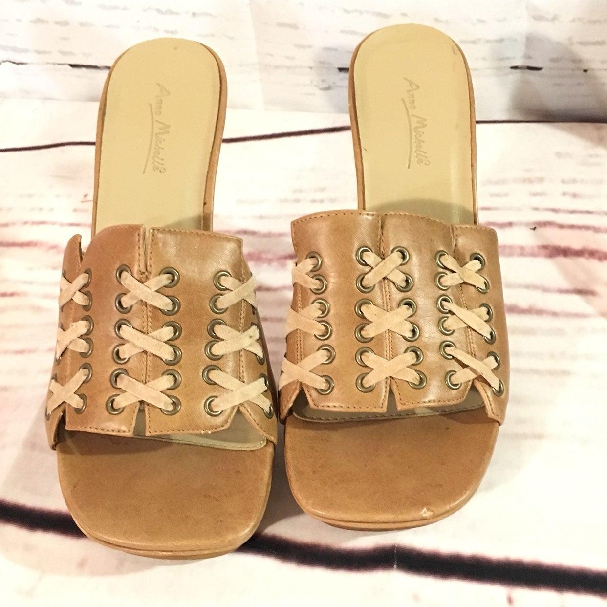 Anne Michelle Heel Sandals Size 9