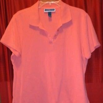 Karen Scott Orange Short Sleeve Shirt