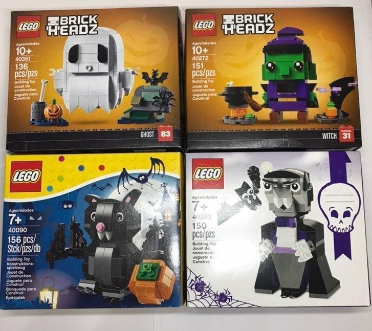 Halloween Lego Brick Headz Bundle Set