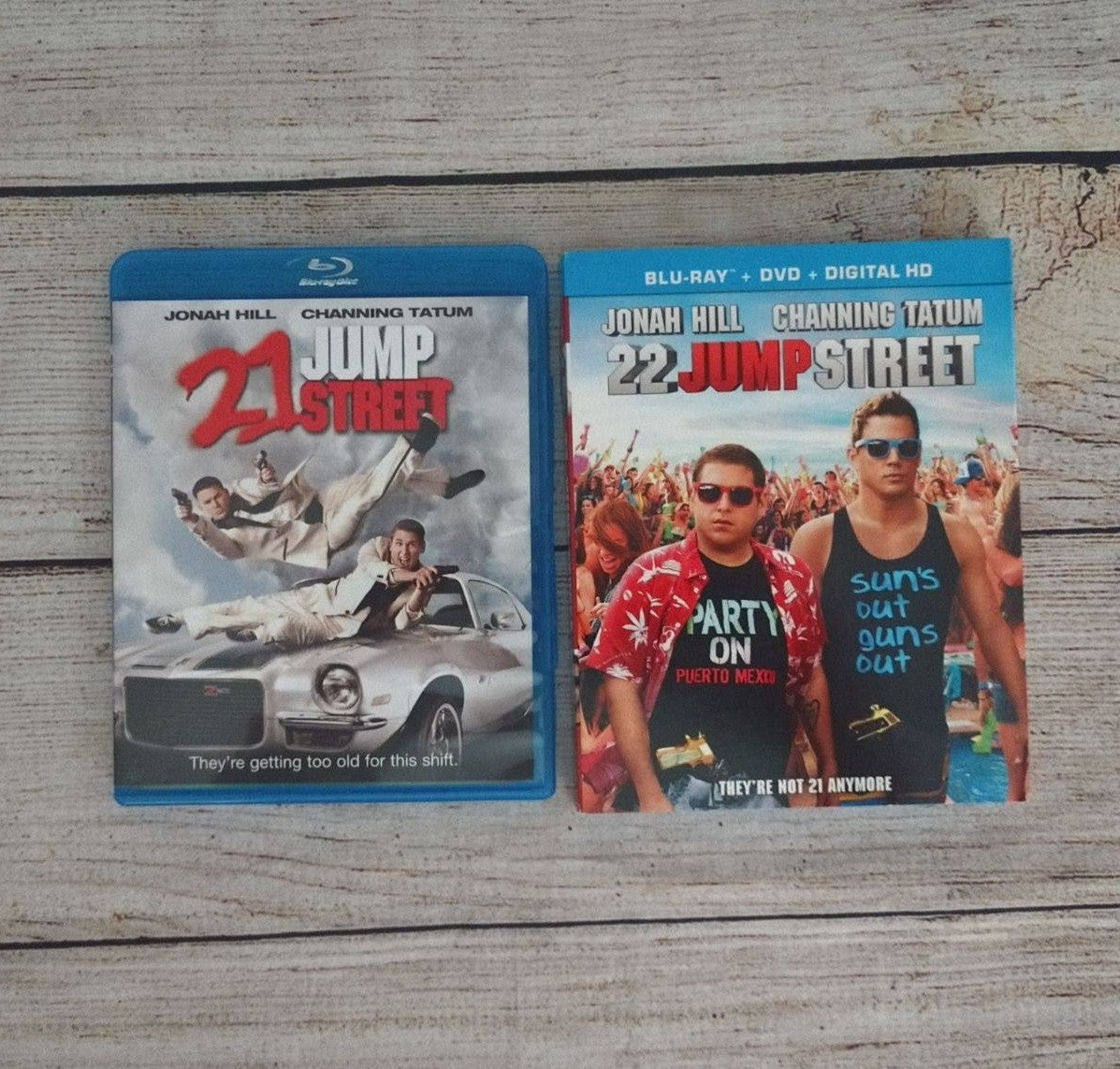 21 & 22 Jump Street Blu-ray DVD Lot