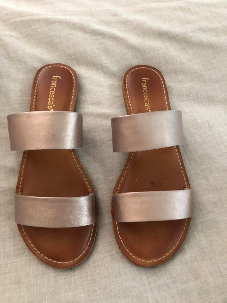 Rose gold sandals size 10