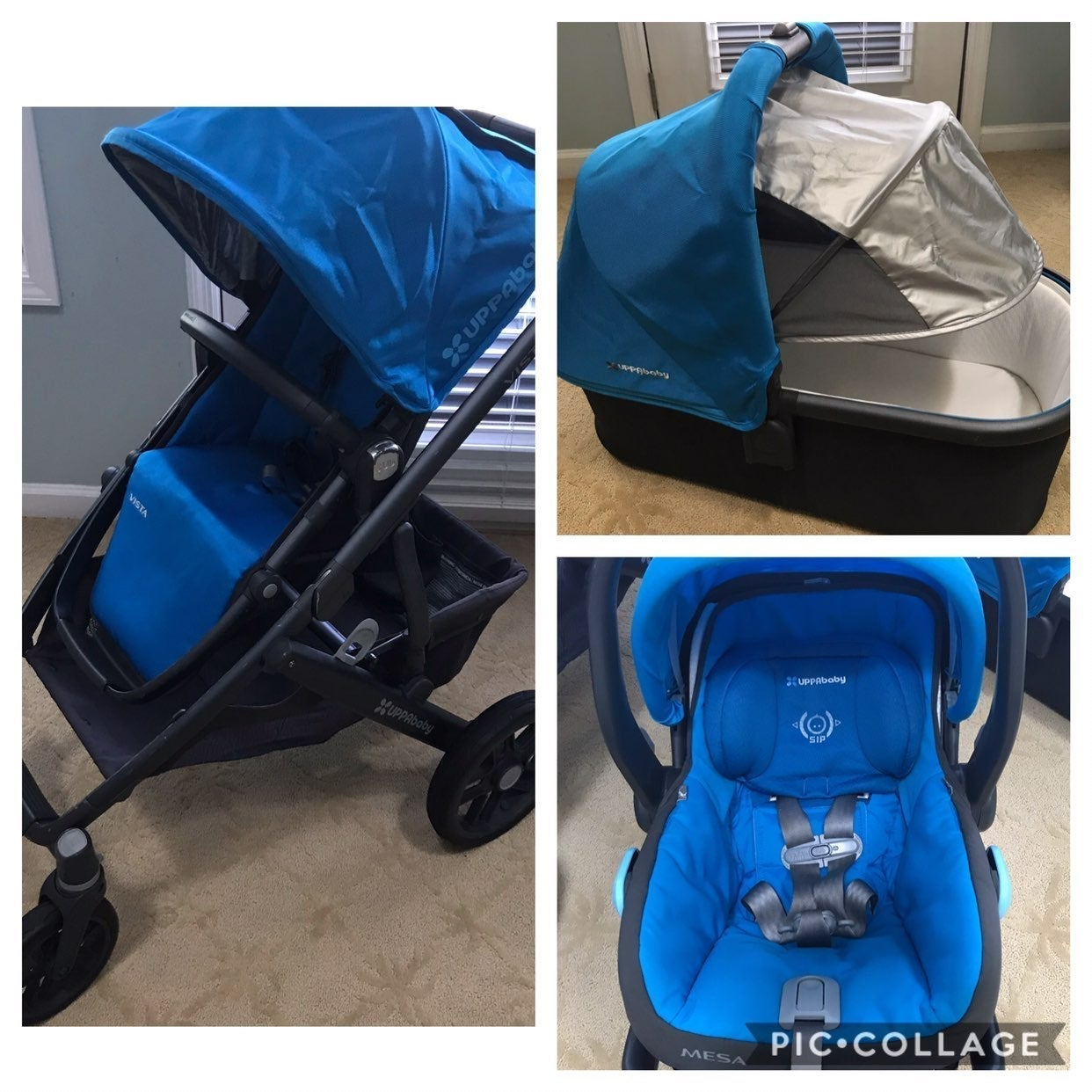 Uppababy Vista stroller wit Mesa carseat