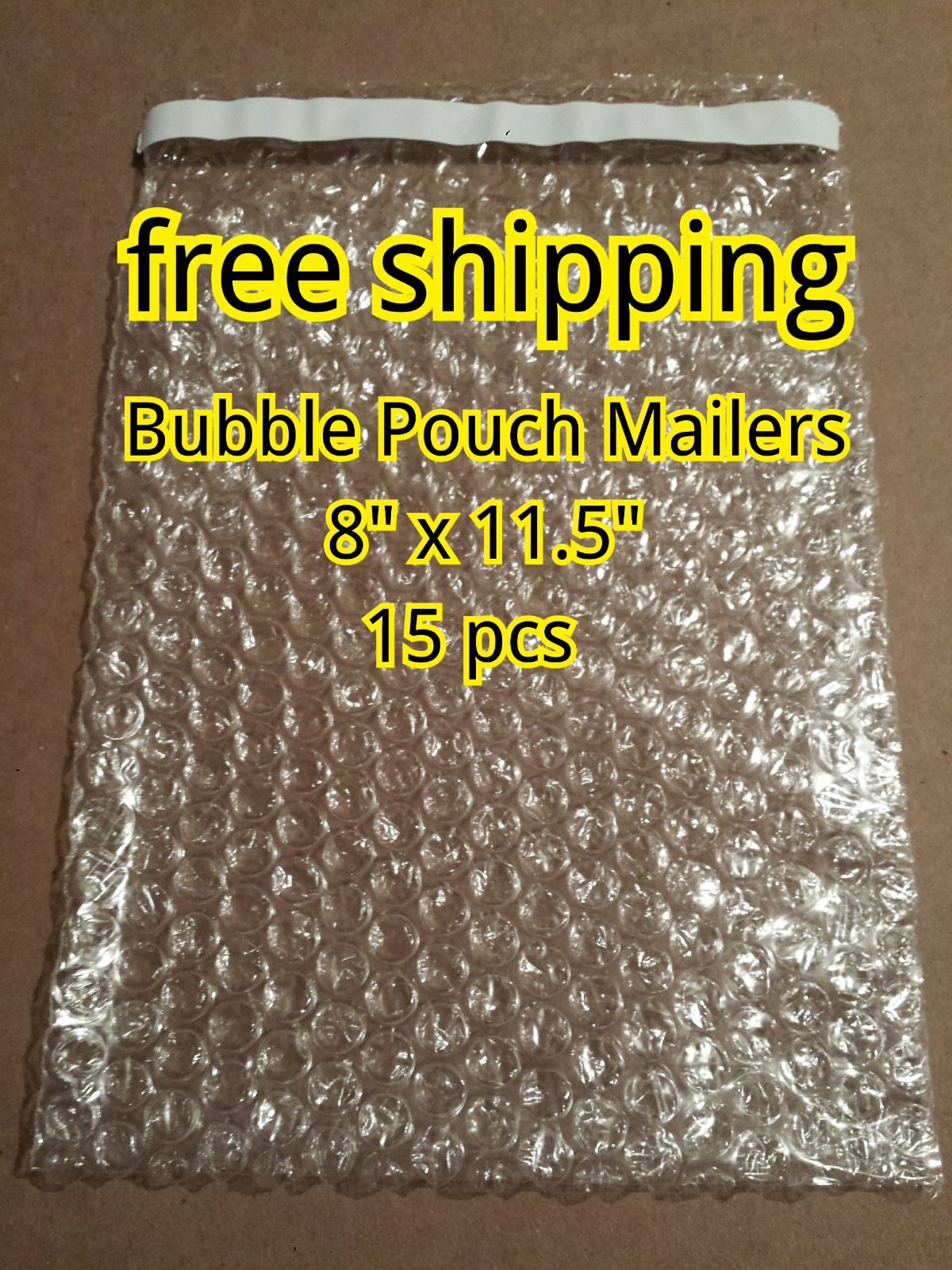 "15 Bags 8""x11.5"" Bubble Pouch Mailers"