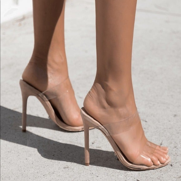 TONY BIANCO Kade Clear Heels Sandals 8.5