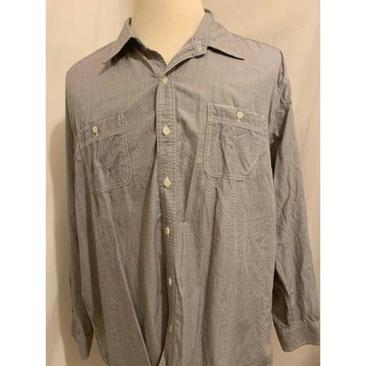 Tre Vero Long Sleeve Button Front Casual