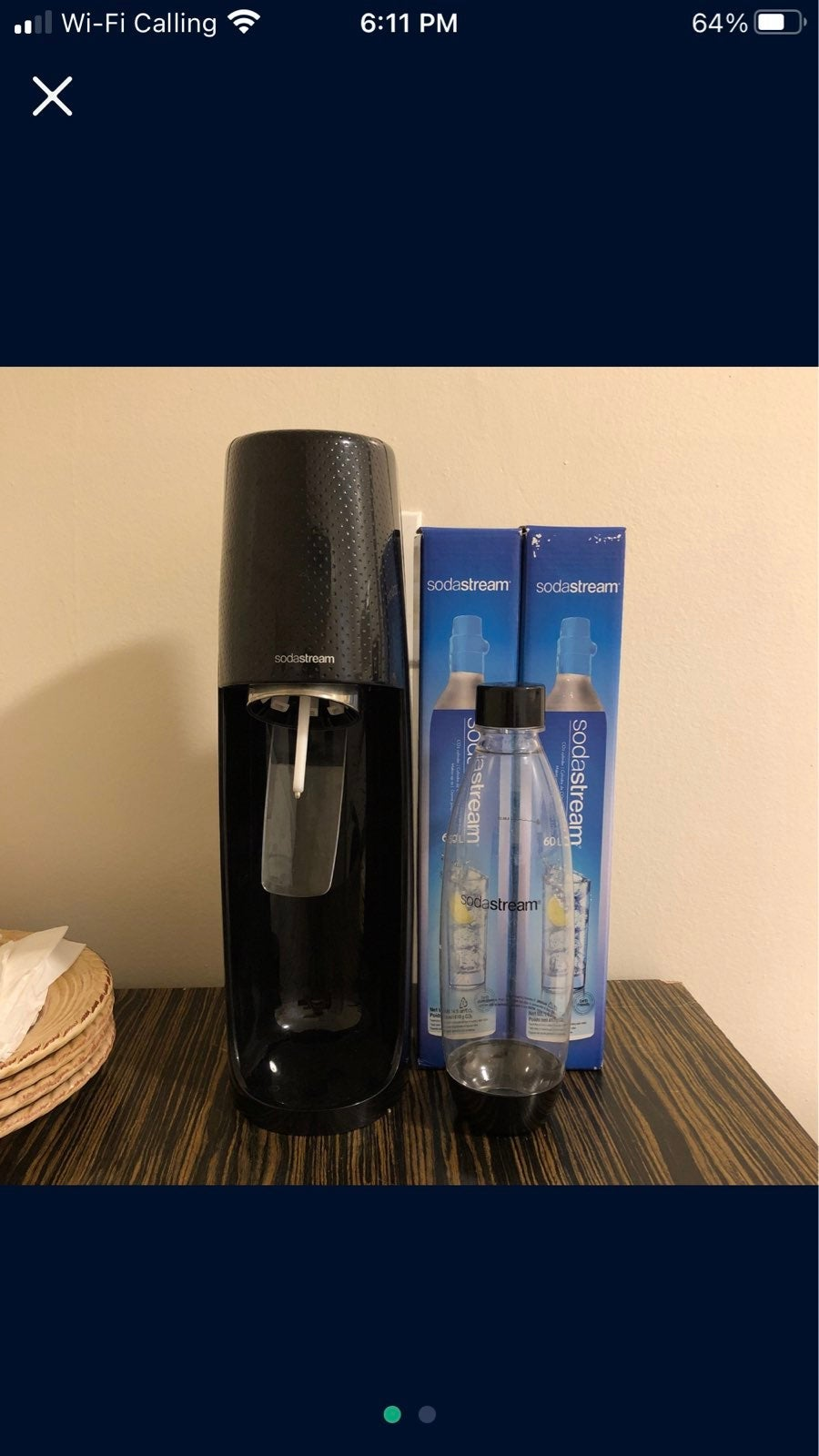 Sodastream Fizzi With Bottle And CO2