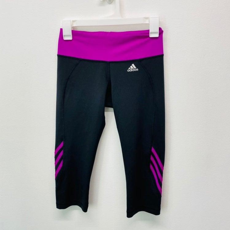Adidas Womens Sz M Black Capri Legging