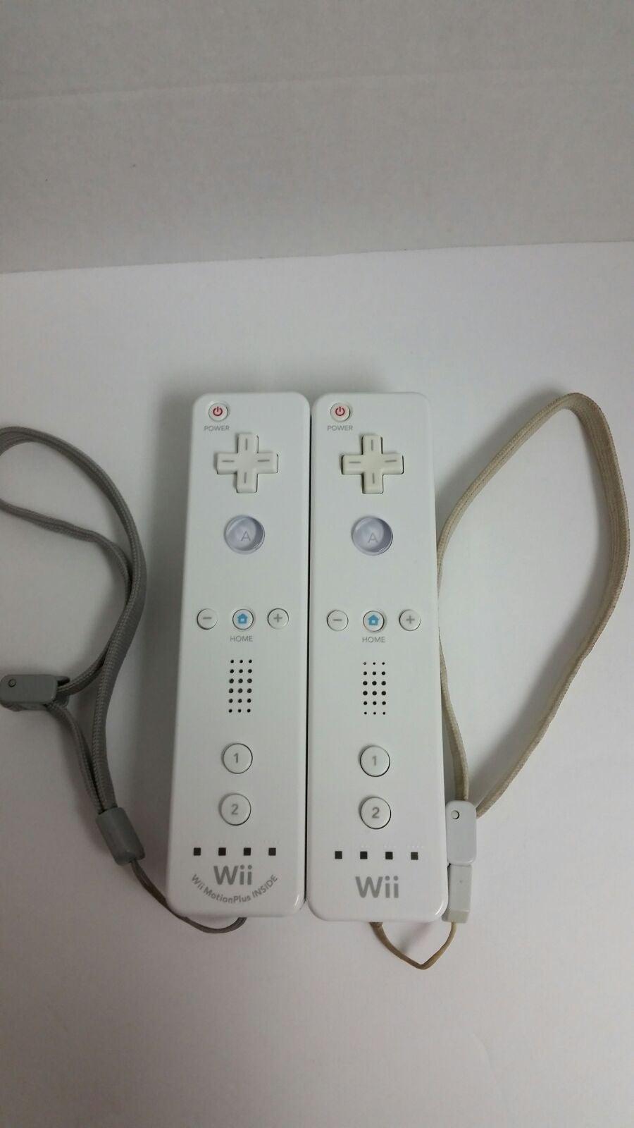 Two Nintendo Wii Remotes