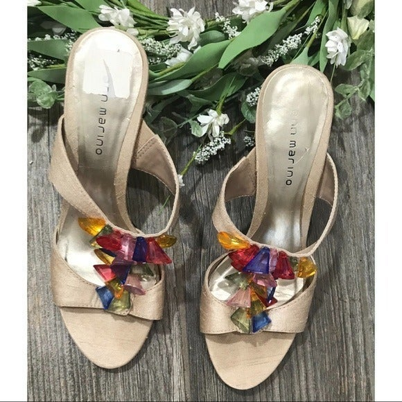 Ann Marino Satin Colorful Heels
