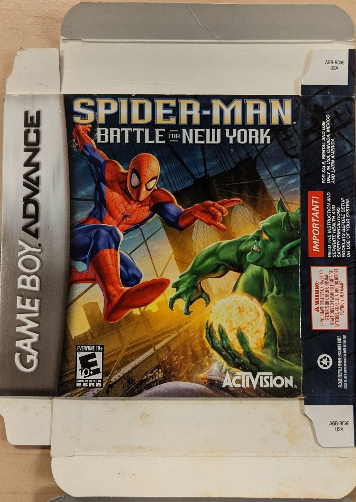 Gameboy Advance Games Boxes Only