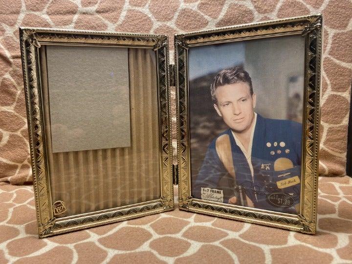 Vintage MetalCraft Bi-Fold Picture Frame
