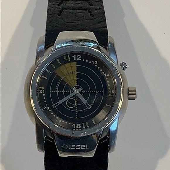 Diesel Steel Sonar Digital Dial Watch