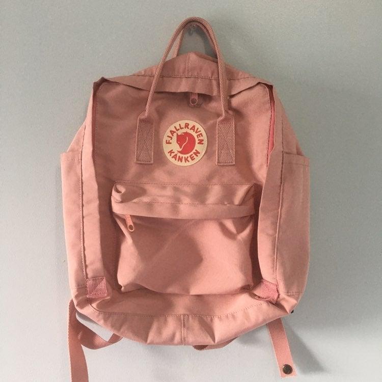 Pink Fjallraven Classic Kanken Backpack
