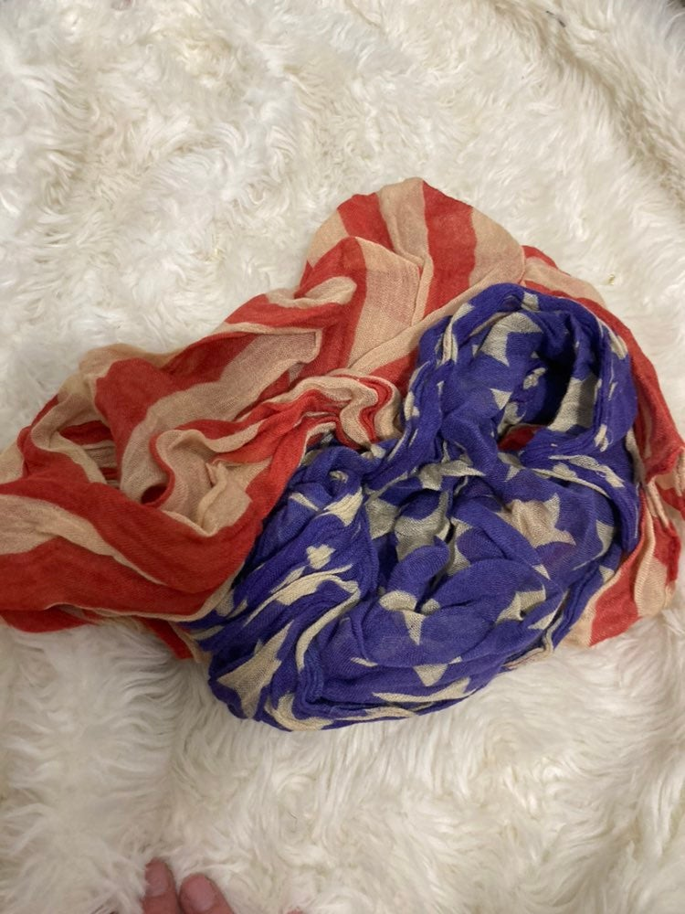 Usa flag scarf