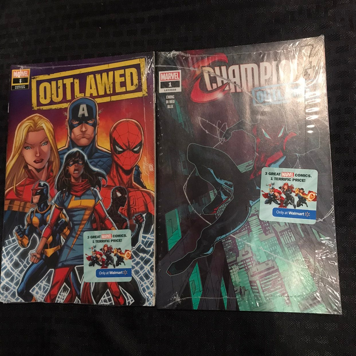 Two Walmart exclusives comics/Outlawed 1