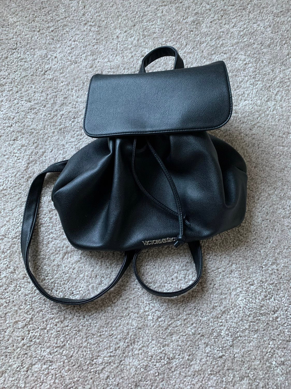 Victoria's Secret Black Drawstring Bag