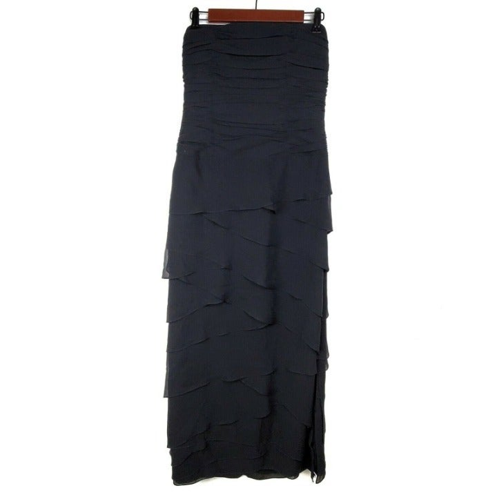 Kay Unger Gown 6 Black Strapless Dress