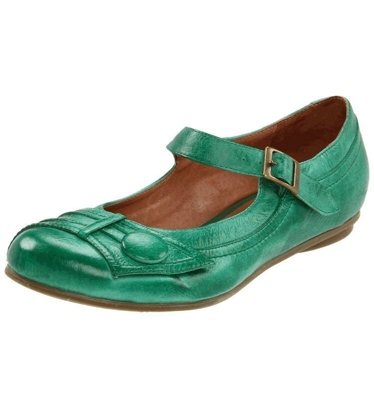 Miz Mooz Dulce Green Leather Shoes 9.5M
