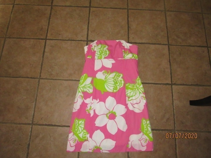 Lilly Pulitzer Strapless Dress Sz 10