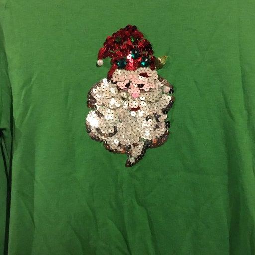 Sequin Santa Shirt Med
