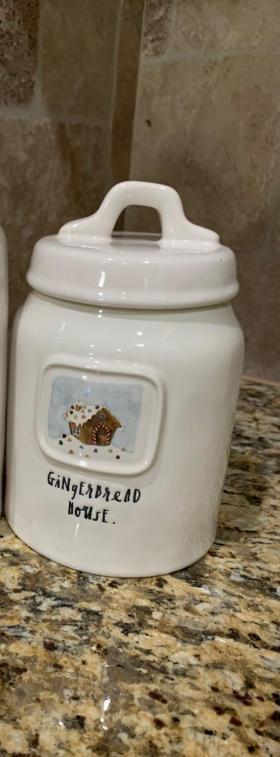 Rae Dunn Gingerbread House Canister