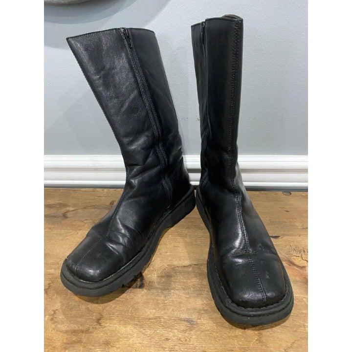 BORN Mid Calf Black Boots Size 8 Classics!