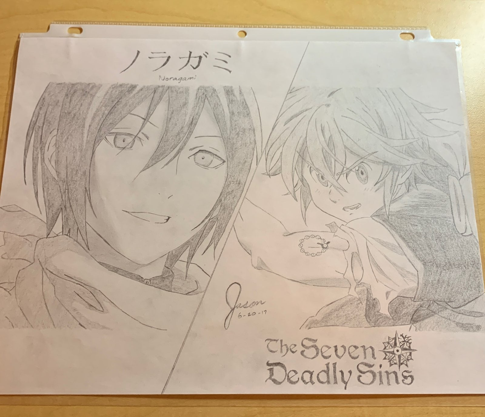 Noragami & The Seven Deadly Sins Drawing