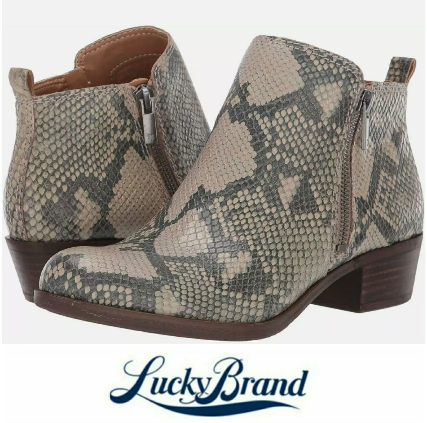 Lucky Brand Snake Embossed Booties