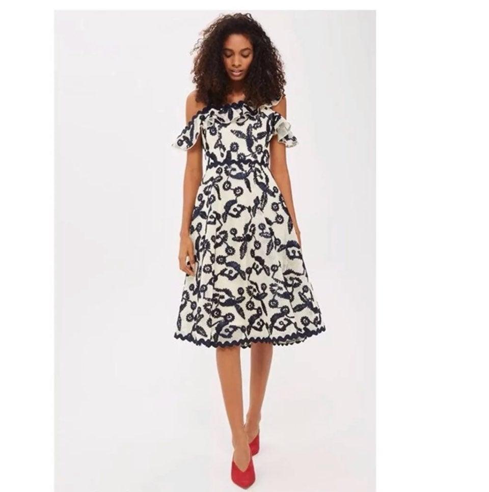 Topshop Cornelli Airtext Bardot Dress