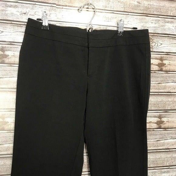 Ecru Black Dress Pants Size 8 Wide Leg