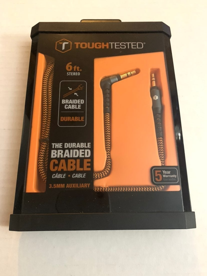 ToughTested 6-Feet Auxiliary Audio Cable