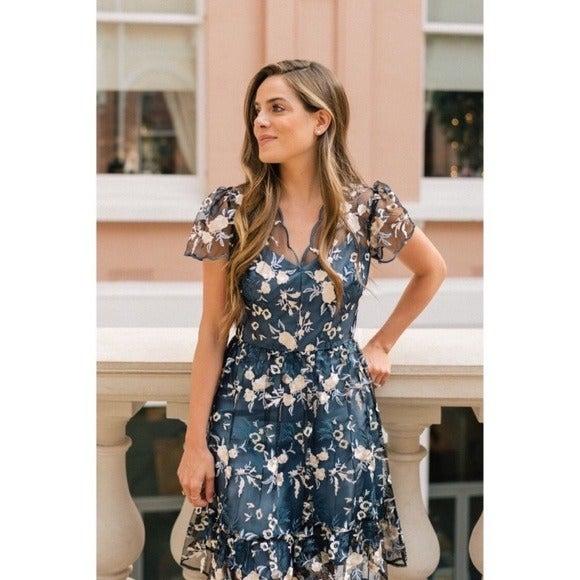 NEW Gal Meets Glam Bridget Floral Dress