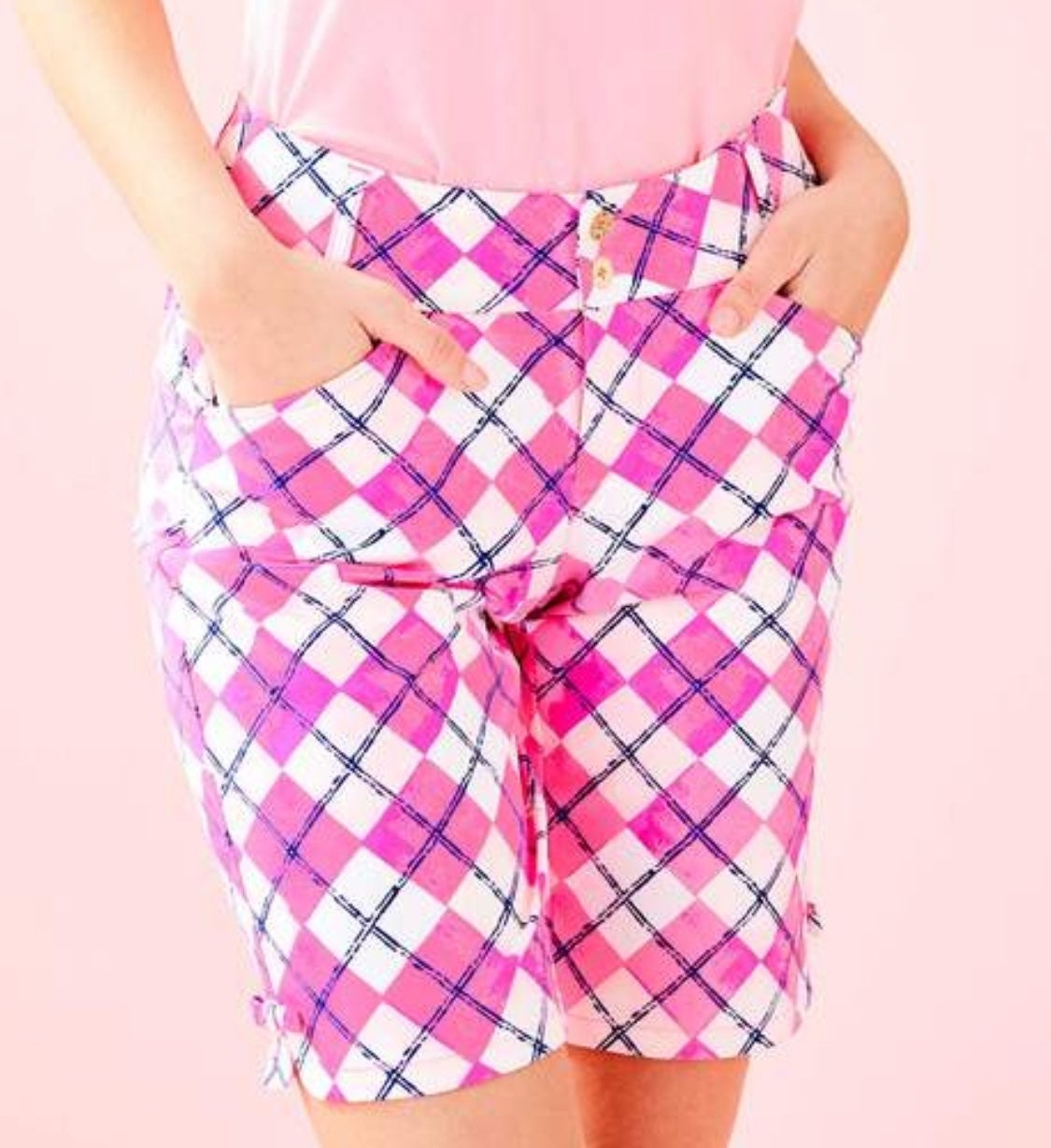 Lilly Pulitzer Pink Tropical Shorts Sz14