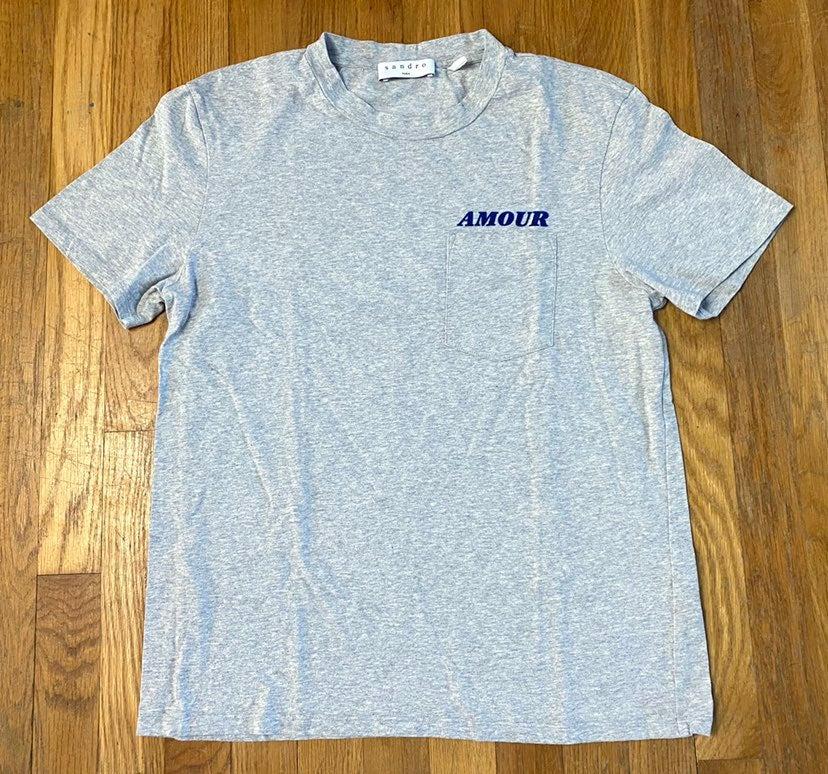 Sandro Paris Amour Love Pocket T-shirt