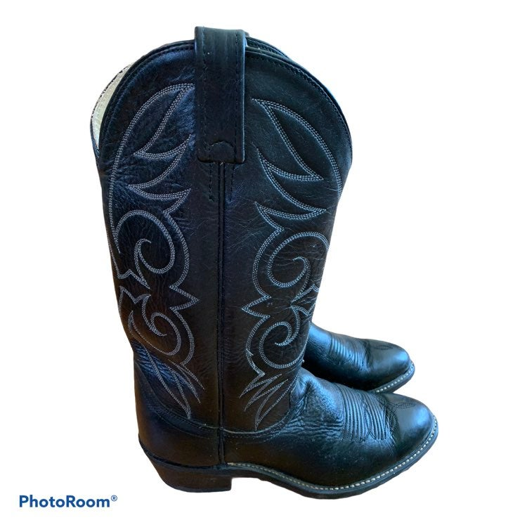 Vulcan Black Cowboy Western Boots