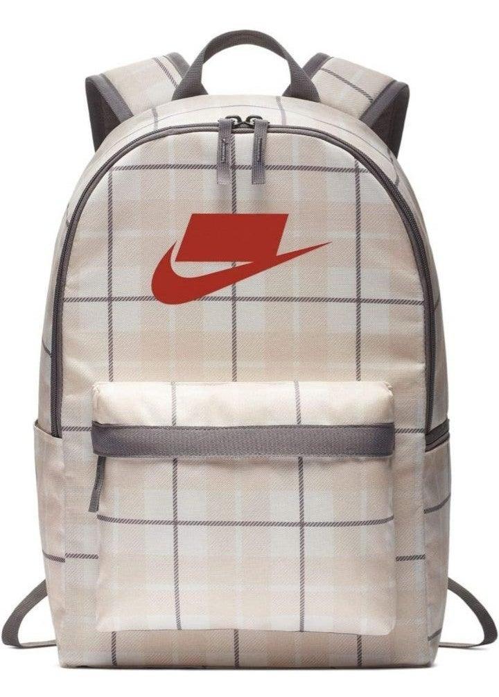 New Nike Heritage 2.0 Plaid Backpack