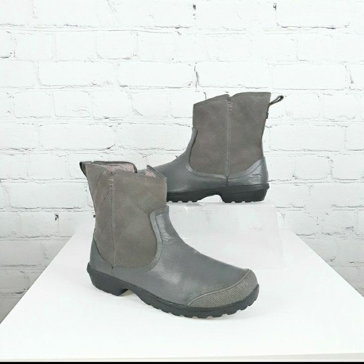 NORTH FACE Grey Thermoball Winter Boots