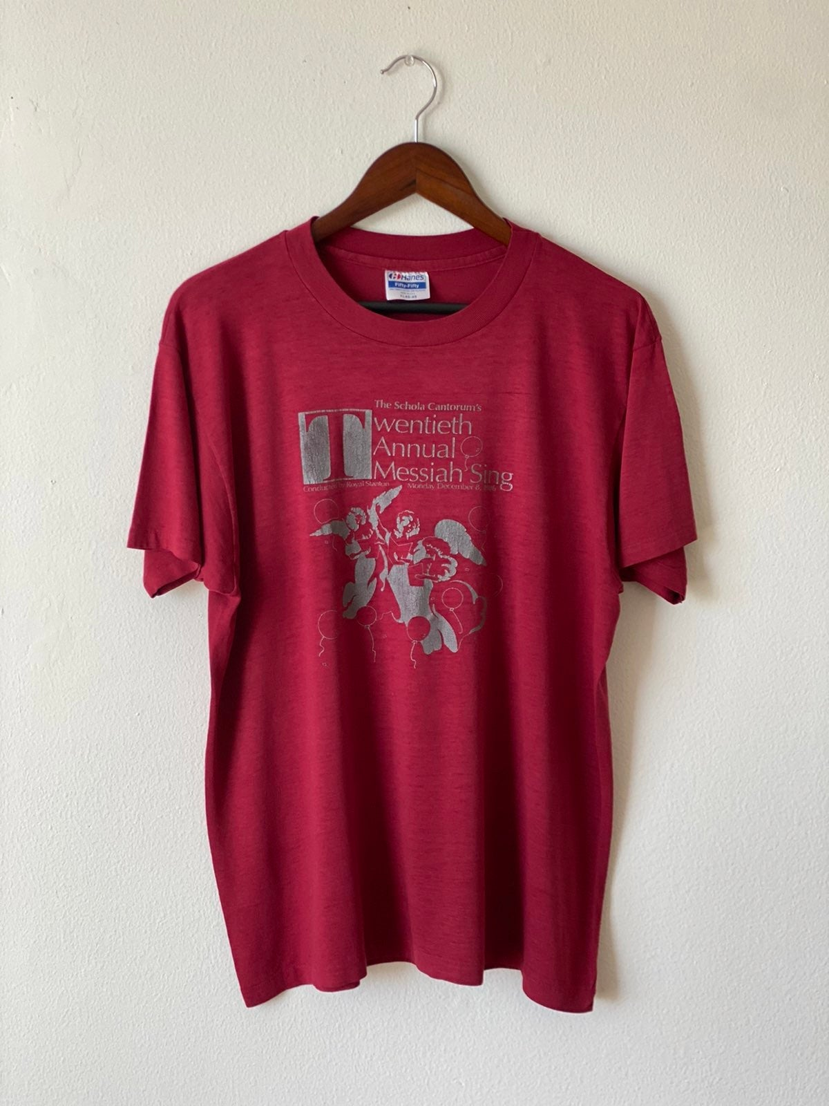 Vtg 80s Single Stitch Messiah Sing Shirt