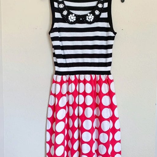 Love Moschino Polka Dot Striped Dress