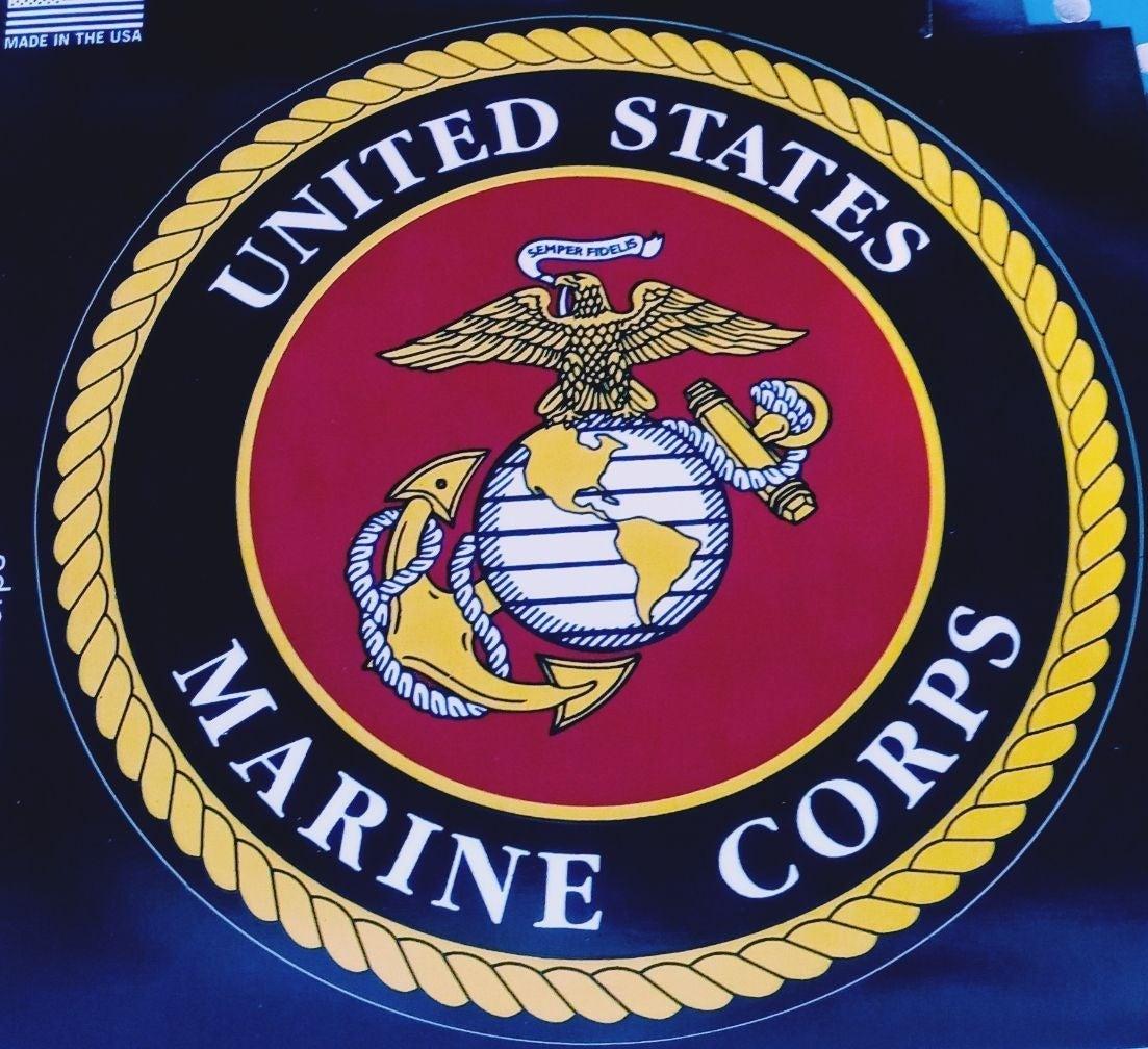 marine corps vinyl decal