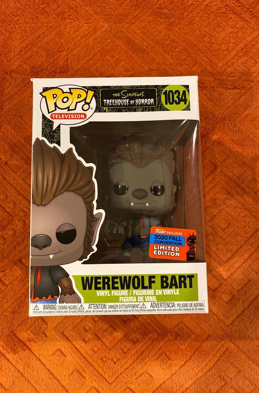 Funko Pop Werewolf Bart Limited Edition