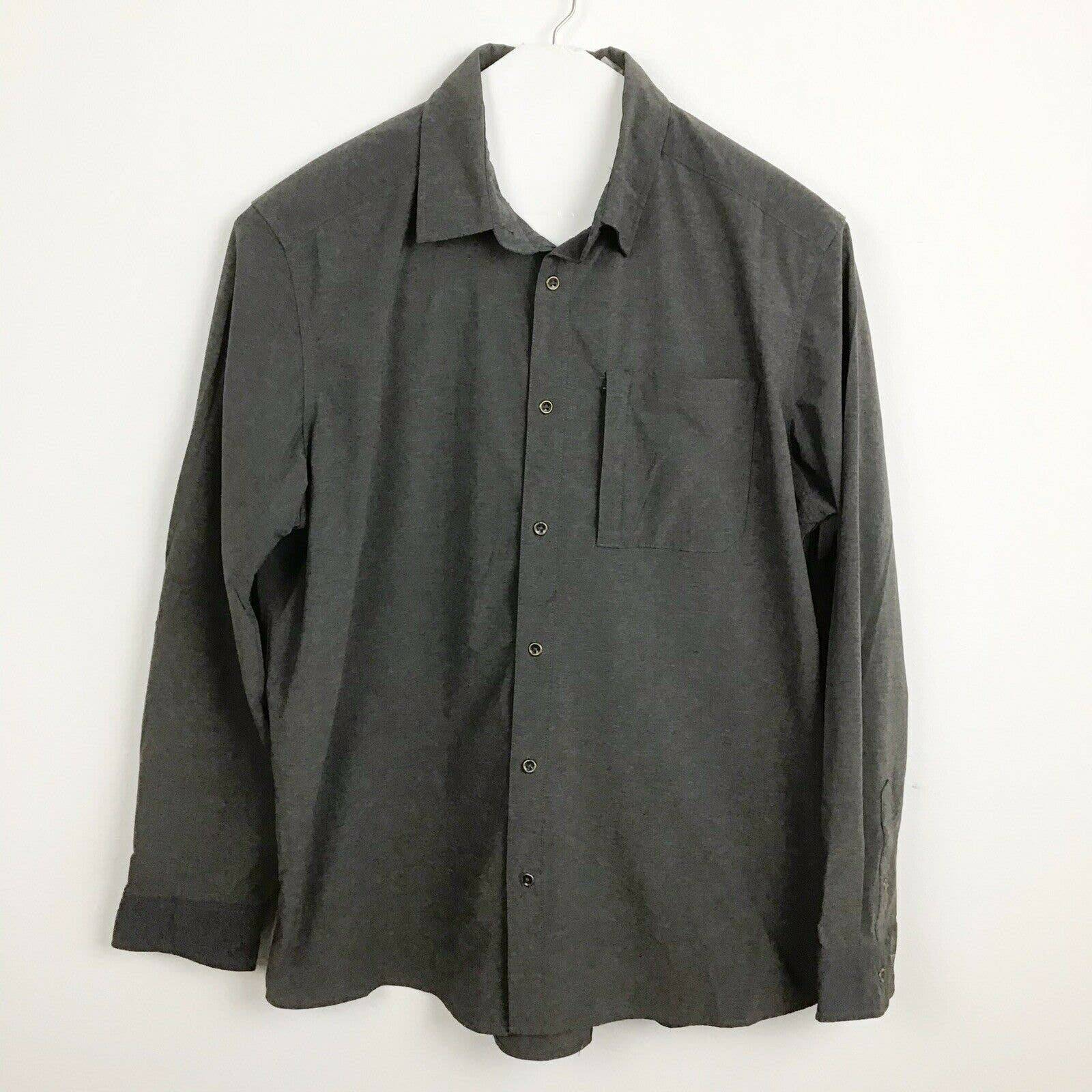 Swiss Tech XL Charcoal Nylon Tech Shirt
