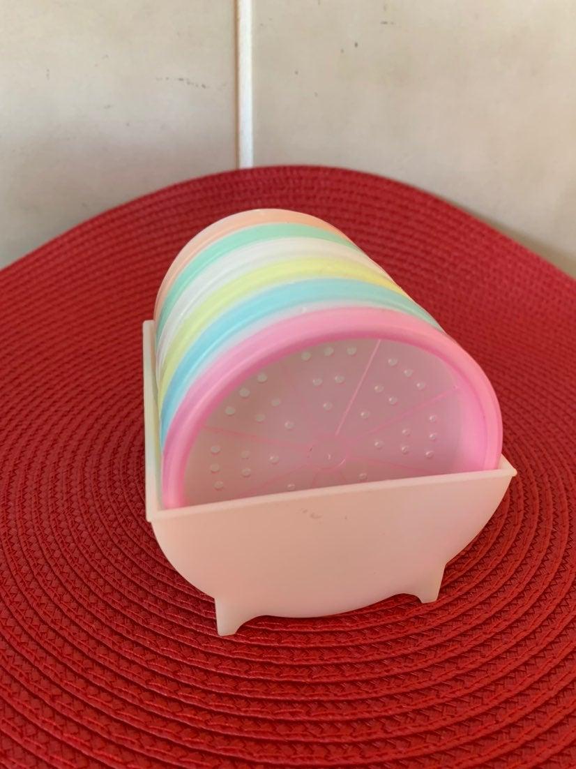 Vintage Tupperware Pastel Coaster Set