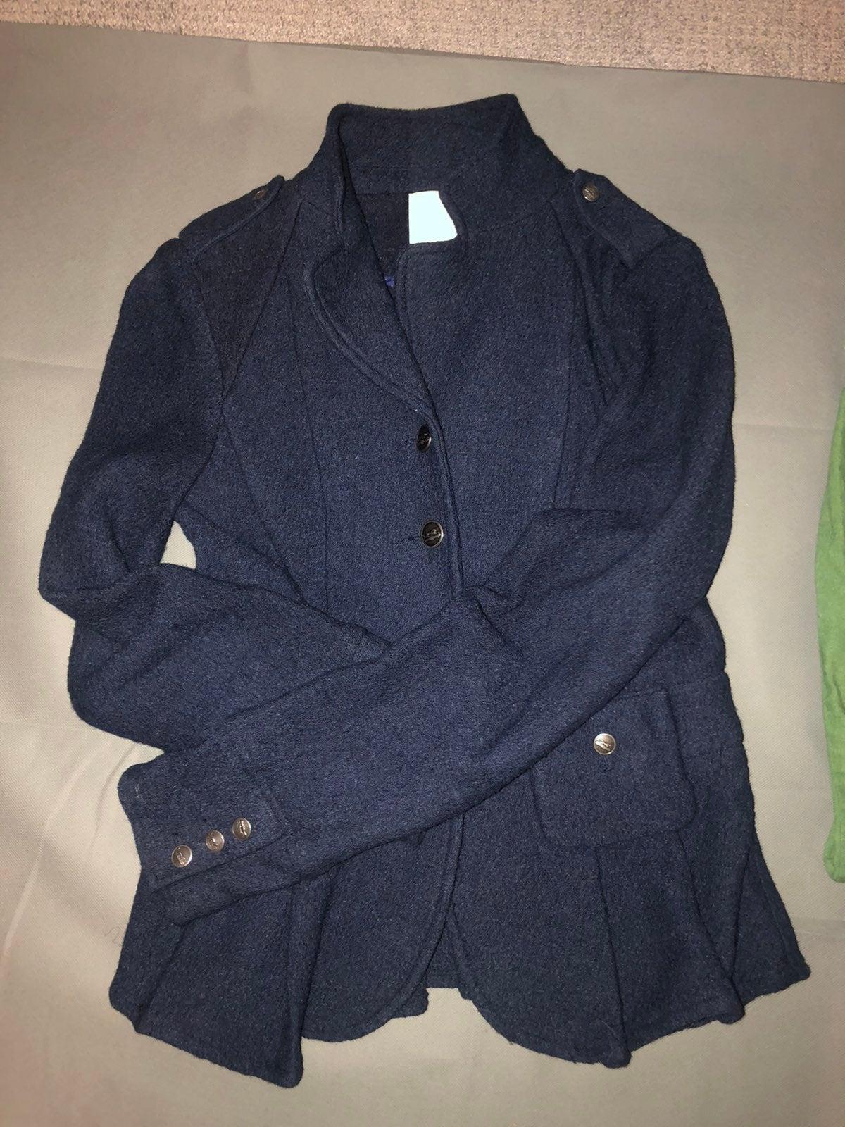 Pretty blue wool Anthro jacket