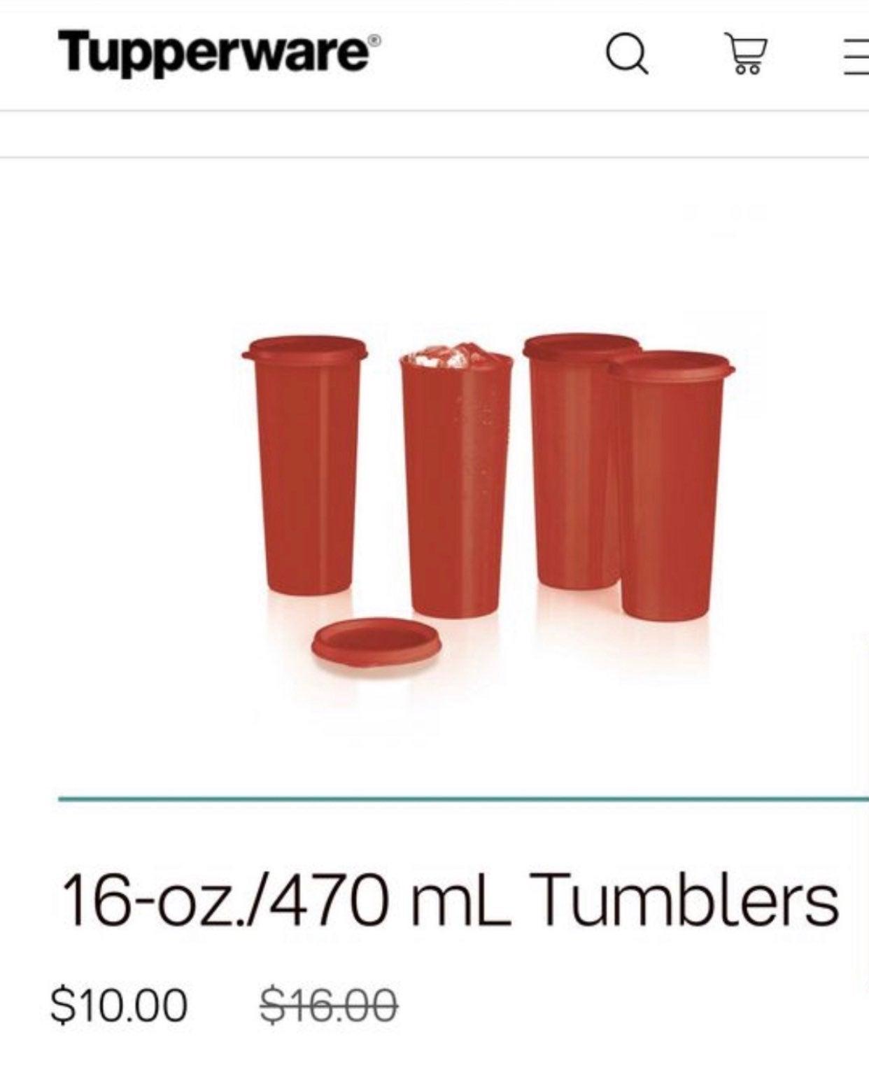 Tupperware tumblers