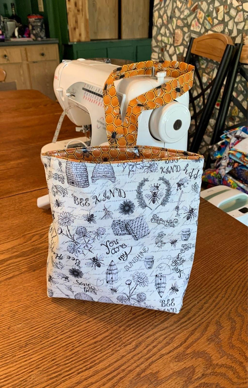 Handmade Car trash bag bee kind