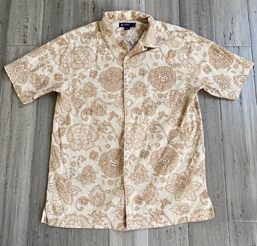 Men's M Cremieux Floral SS Shirt Button