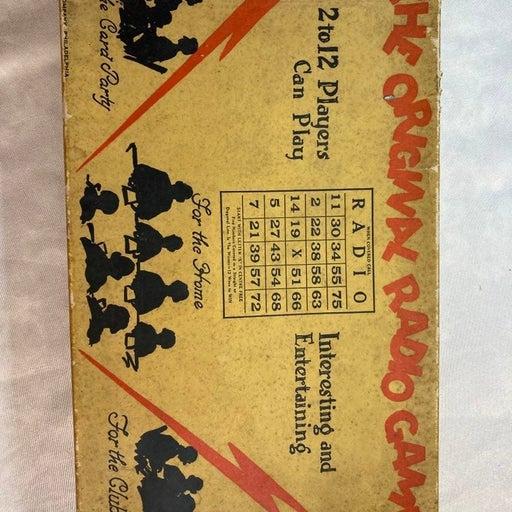 Vintage 1920s The Original Radio Game Bi