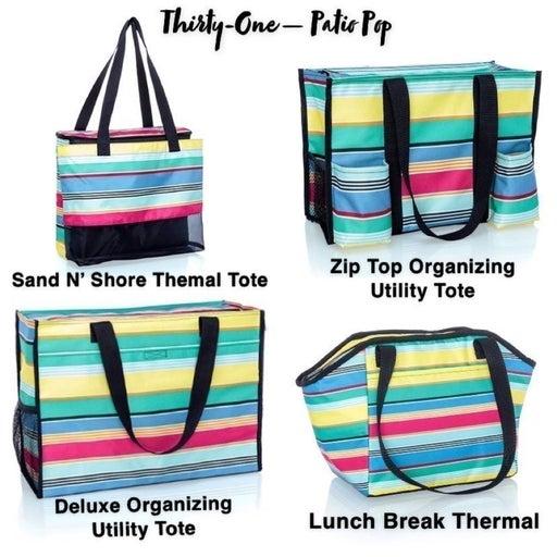 Thirty-One Rainbow Tote Bags Bundle - 4 BAGS !