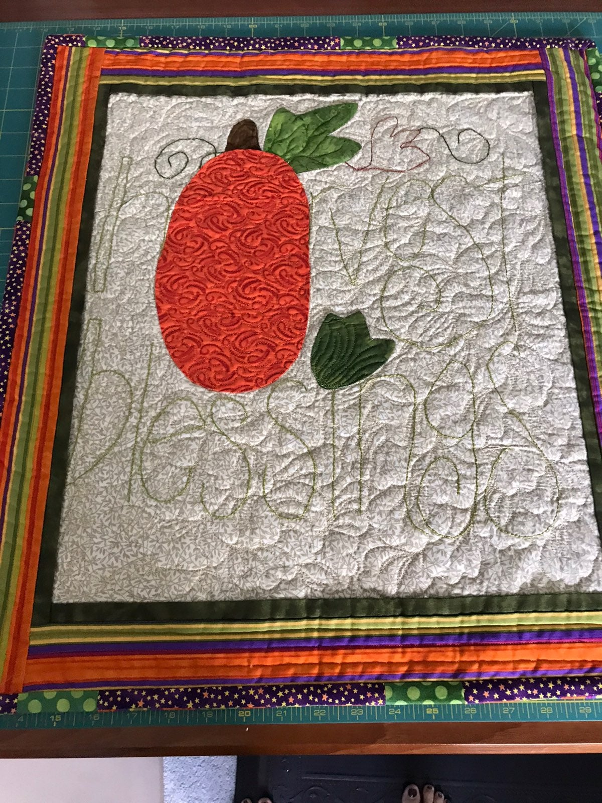 Harvest blessings mini quilt